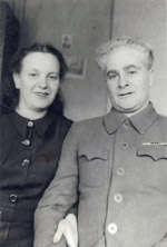 Mother and stepfather Mikhail Rapoport